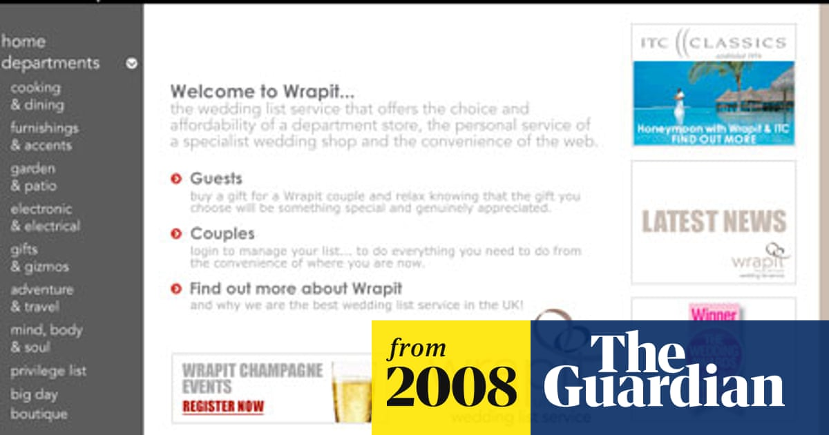 Wrapit placed into administration   Money   The Guardian