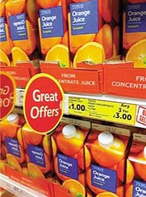 Daft Deals 051111: Orange juice offer in Tesco, Barnstaple