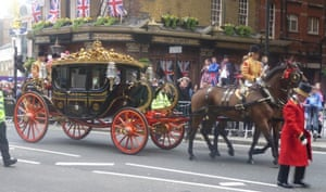 A working life 070511: A carriage passes by on the royal wedding route