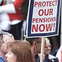 Pensions protests