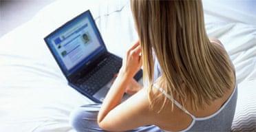 Laptop computer internet surfing