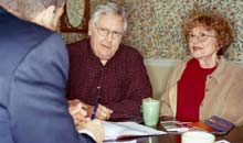Pensioners taking financial advice