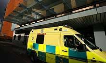 An ambulance outside Hammersmith hospital