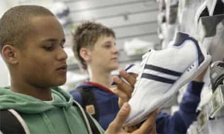 Teenagers shopping