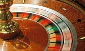 Gambling on a roulette wheel