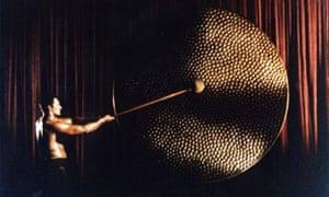 Rank Organisation man hitting the gong