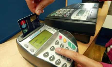 Paying with a card using chip and pin