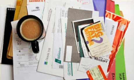 Bank statements and other financial paperwork