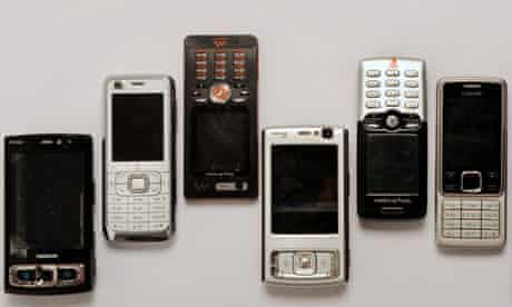 A selection of mobile phones