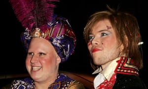 Matt Lucas and Kevin McGee at their civil partnership party