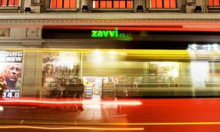 Zavvi flagship store on Oxford Street, London