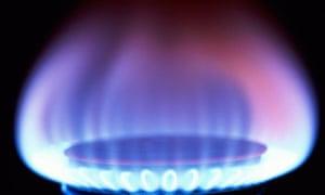 Gas flame on hob