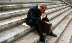 An office worker contemplates redundancy