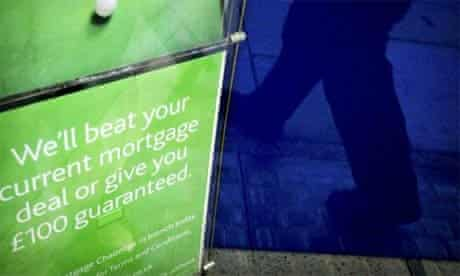 Mortgage offers in a bank window