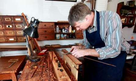 Violin bow maker and violin repairer Matthew Coltman