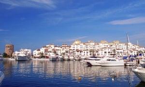 Puerto Banus Harbor in Marbella, Spain