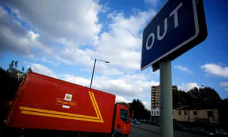 The postal strike means fewer delivery vans are on the roads