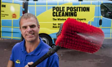 Dave Lugsden runs his own  a window cleaning business Pole Position Cleaning, in Bournmouth