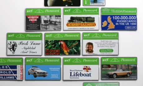 Jill Papworth's phonecard collection