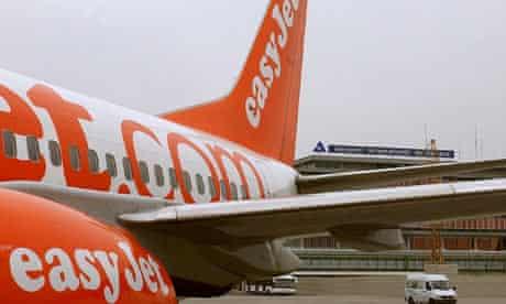 EasyJet plane on the tarmac in Geneva