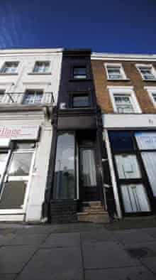 A house in Shepherds Bush, London, just 5ft 6inches wide, reportedly up for sale for £550,000