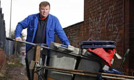 Mike Yeomans, street cleaner in Coventry.