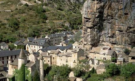 Stone built houses in the Lozere region of France