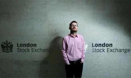 Rupert Jones outside the London Stock Exchange