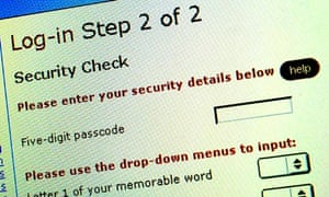 A login screen for an online banking/billing service