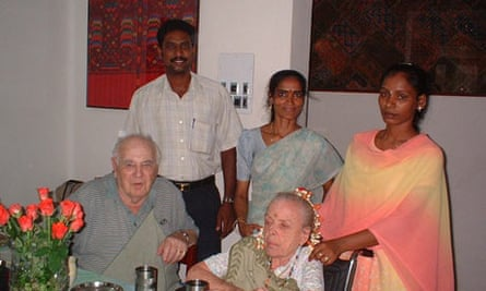 Steve Herzfeld's parents Ernest and Frances in India