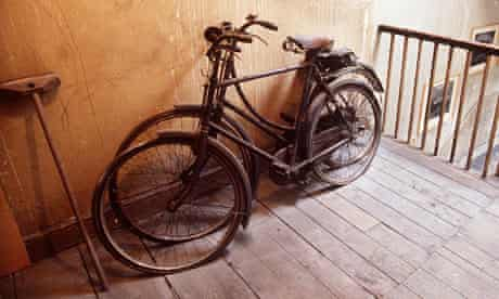 Old bicycles on the landing