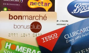 Store cards from clubcard schemes