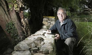 Master craftsman and dry stone waller Richard Ingles