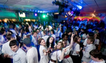 Students partying at the Aberystwyth University Students union