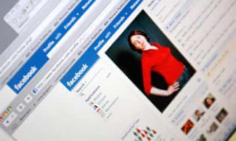 A Facebook profile page