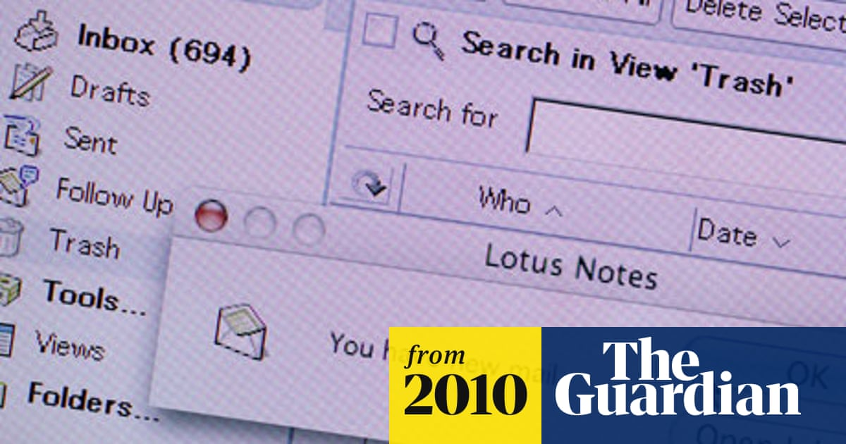 What's the carbon footprint of     email? | Environment | The Guardian