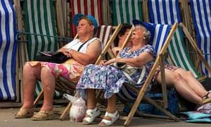 Blackpool beach deck chairs