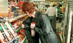 shoplifting alcohol