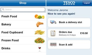 Tesco launches barcode scanner app for online orders | Money | The