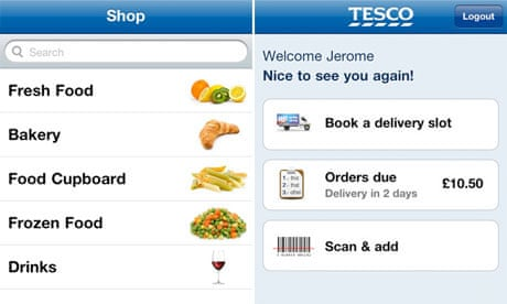 Tesco launches barcode scanner app for online orders | Money