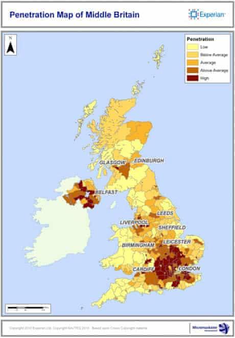 Middle Britain penetration map
