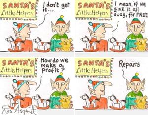 Pushing envelopes: Santa's business sense