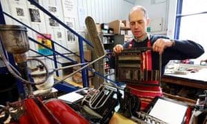 A letter press printer