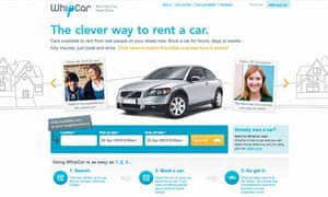 WhipCar allows you to rent your car to your neighbours