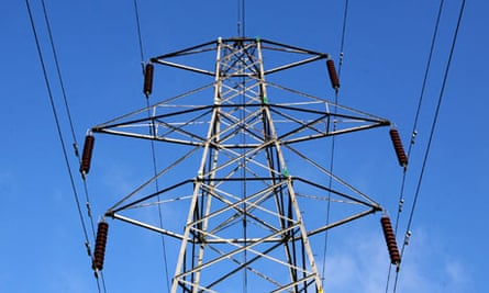 Electricity pylons in Suffolk