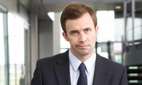 An unhappy businessman
