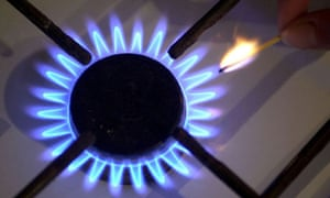 Lighting the flame of a gas stove