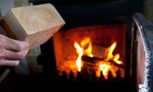 Using a wood-burner