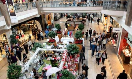 Shoppers at Bluewater shopping centre, Kent