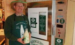The raw milk dispenser in Selfridges